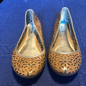 Brown Flowery Flats Size 7.5
